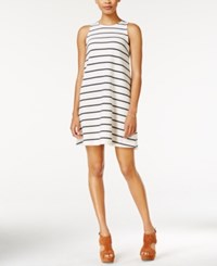 Maison Jules Striped Shift Dress Only At Macy's White Washed