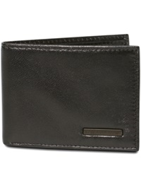 Geoffrey Beene Mead Credit Card Manager Bifold Wallet Black