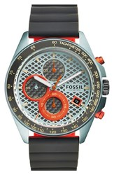 Fossil 'Sport 54' Chronograph Silicone Strap Watch 44Mm