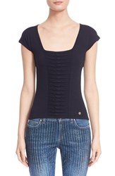 Women's Versace Ruched Knit Tee