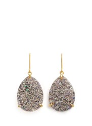 Niin 'Yin' Droplet Drusy Spectrum Earrings Multi Colour Metallic