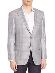 Hickey Freeman Two Toned Checked Sportcoat Grey