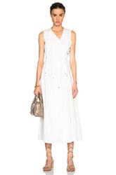 Rosetta Getty Cotton Poplin Tie Front Wrap Dress In White