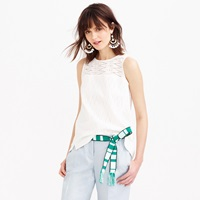 J.Crew Petite Seamed Shell In Zigzag Eyelet