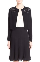 Women's Rebecca Taylor Crystal Embellished Cardigan
