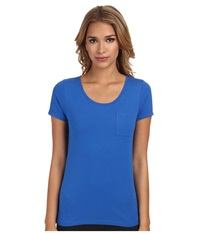 Bcbgeneration Jessa The Who Are You Wearing T Shirt Sapphire Women's T Shirt Blue