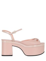 Rochas 95Mm Leather Sandals With Cutouts