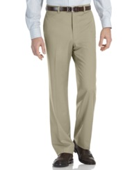 Calvin Klein Modern Fit Microfiber Flat Front Dress Pants Stone