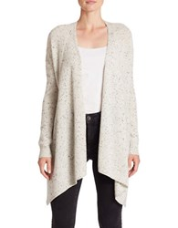 Lord And Taylor Petite Petite Long Sleeve Cashmere Cardigan Light Grey Heather