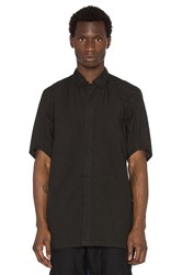 11 By Boris Bidjan Saberi Short Sleeve Button Down Shirt Black