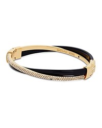 Michael Kors Criss Cross Hinge Bangle Gold