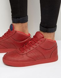 Jack And Jones Dunc Mid Trainers Red