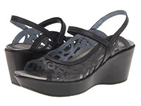 Naot Footwear Deluxe Metallic Road Leather Brushed Black Leather Women's Sandals