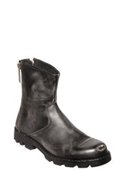Diesel Metal Toe Vintage Effect Leather Boots
