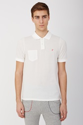Band Of Outsiders Mushroom Embroidered Trap Pocket Polo White