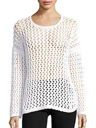 Rag And Bone Long Sleeve Cotton Sweater White