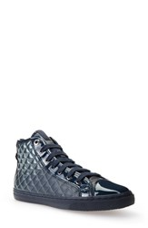 Geox Women's 'New Club' High Top Sneaker Lake Patent Leather