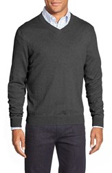 Men's Big And Tall Nordstrom Cotton And Cashmere V Neck Sweater