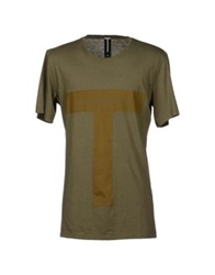 Gaetano Navarra T Shirts Military Green