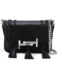 Tod's Tassel Detailed Crossbody Bag Black