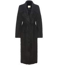 By Malene Birger Jovillan Mohair Blend Coat Black