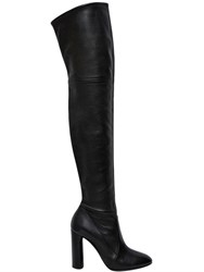 Casadei 100Mm Stretch Leather Boots