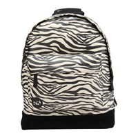 Mi Pac Zebra Canvas Backpack Black White