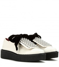 Marc By Marc Jacobs Berry Leather Platform Derby Shoe White