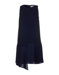 10 Crosby Derek Lam Short Dresses Dark Blue