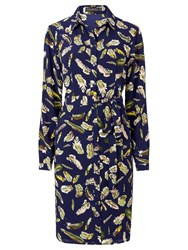 Sugarhill Boutique Evelina Shirt Dress Navy Multi