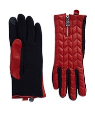 Lauren Ralph Lauren Quilted Leather Touch Gloves Red