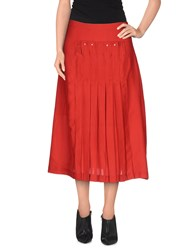 Paola Frani Skirts 3 4 Length Skirts Women Red