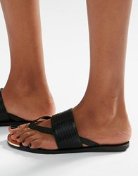 Aldo Toe Post Flat Sandals Black
