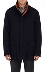 Barneys New York Men's Cashmere Field Jacket Navy