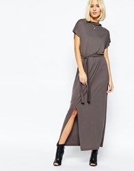Selected Celia Maxi Dress With Tie Waist Pavement