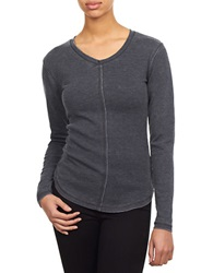 William Rast Roundneck Thermal Knit Top Charcoal