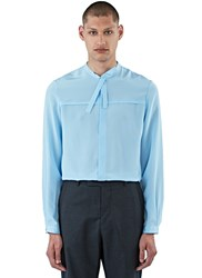Gucci Silk Crepe De Chine Shirt Blue