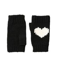 Bcbgeneration Love Hearts Gloves Black Lace Gloves