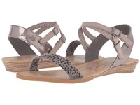 Blowfish Bamb Grey Spotted Pewter Greasy Mushroom Dyecut Pu Women's Sandals Gray
