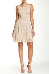 Jump Princess Seam Fit And Flare Homecoming Dress Beige