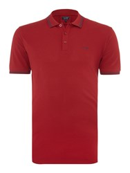 Armani Jeans Regular Fit Tipped Logo Polo Bordeaux