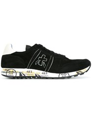 Premiata White 'Eric' Sneakers Black