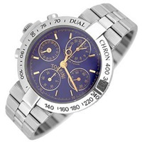 Torrini Dualchhron Dual Time Automatic Blue Chronograph Watch