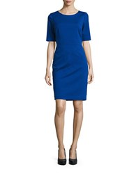 Ellen Tracy Seamed Sheath Dress Cobalt