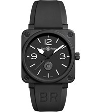 Bell And Ross Br0394blce Aviation Ceramic And Rubber Watch