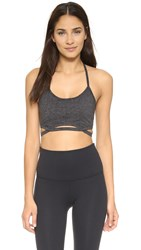 Free People Movement Infinity Bra Charcoal Black
