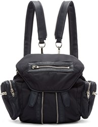 Alexander Wang Navy Nylon And Leather Mini Marti Backpack