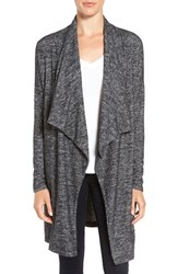 Velvet By Graham And Spencer Women's Long Stretch Jersey Cardigan