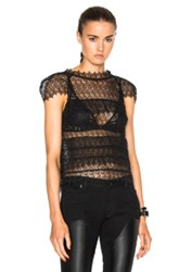 Marissa Webb Austin Lace Top In Black