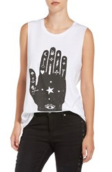 True Religion Women's Brand Jeans 'Celestial Hand' Graphic Cotton Muscle Tee